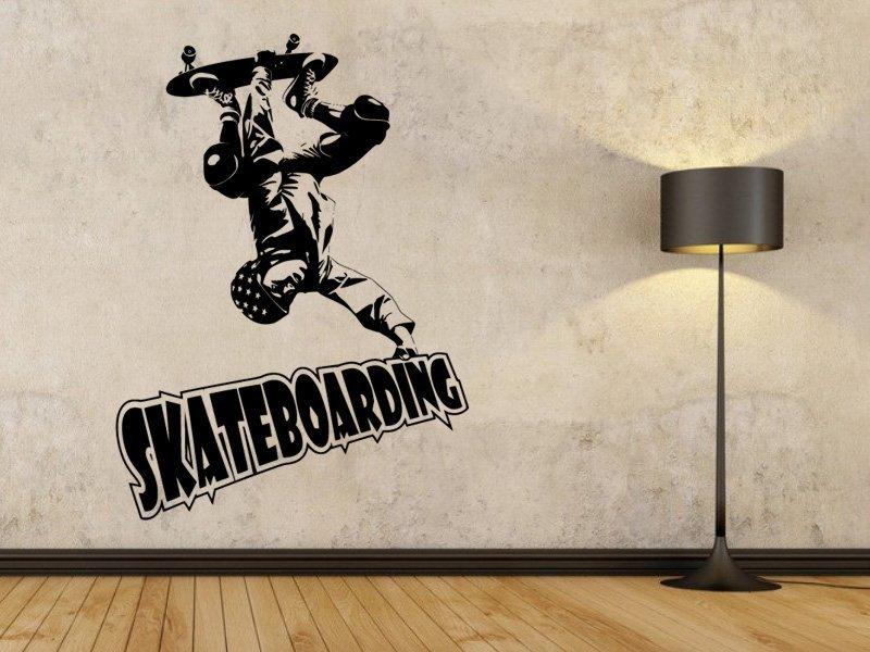 Samolepky na zeď Skateboardista 003 - Samolepící dekorace a nálepka na stěnu