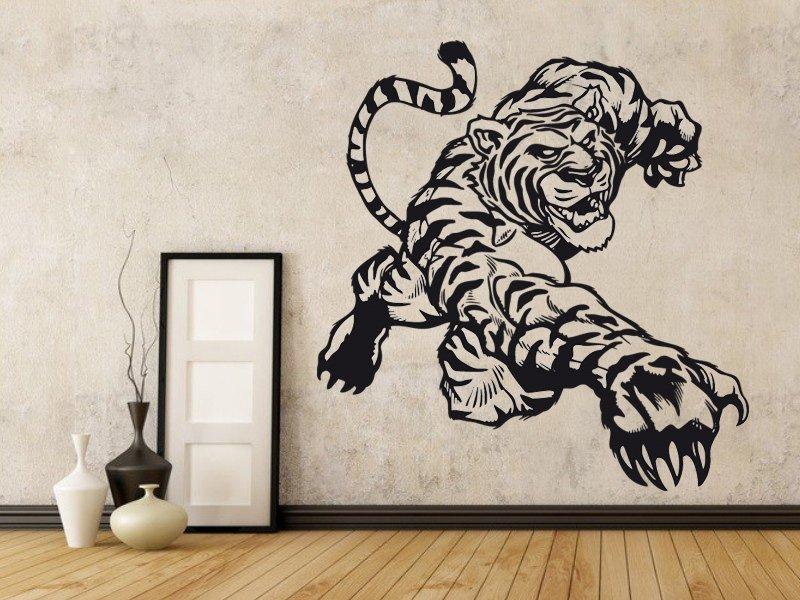 Samolepky na zeď Tygr 002 - Samolepící dekorace a nálepka na stěnu