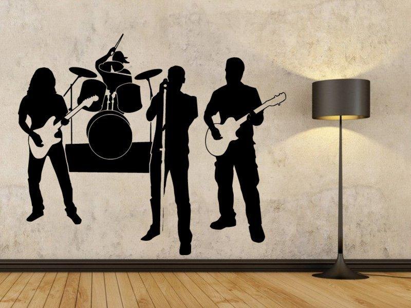 Samolepky na zeď Kapela 001 - Samolepící dekorace a nálepka na stěnu