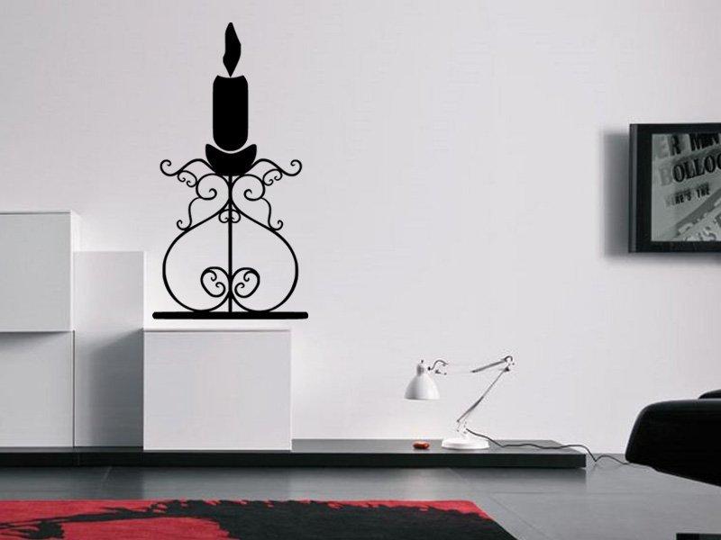 Samolepky na zeď Svícen 0019 - Samolepící dekorace a nálepka na stěnu