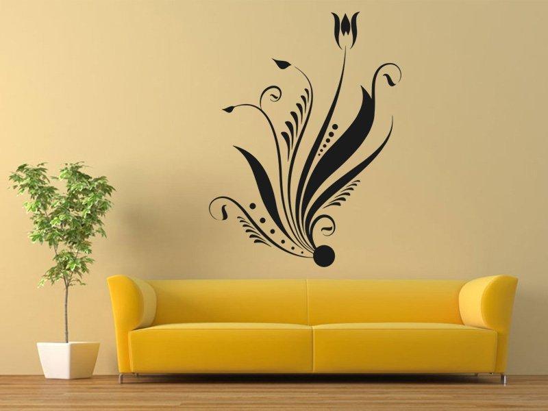 Samolepky na zeď Ornamenty z rostlin 002 - Samolepící dekorace a nálepka na stěnu