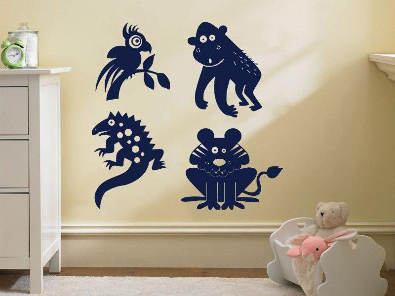Samolepky na zeď Zvířátka 002 - Samolepící dekorace a nálepka na stěnu