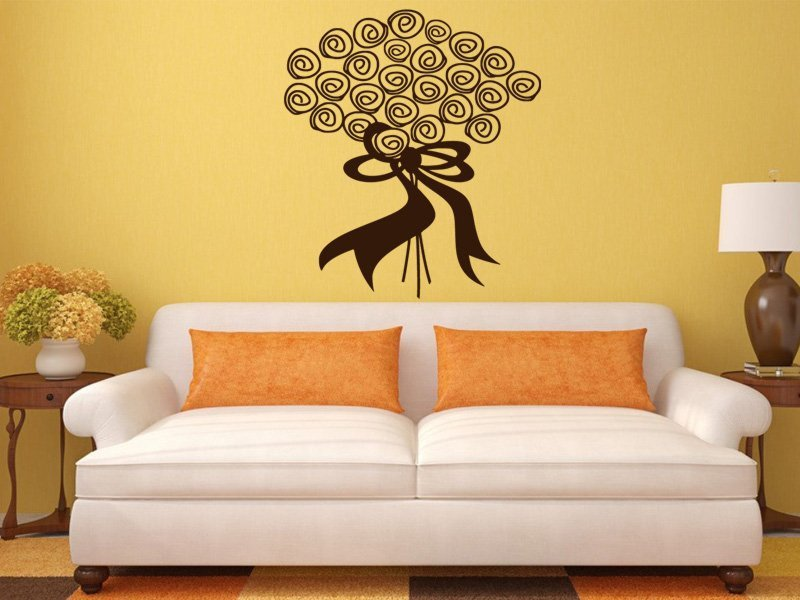 Samolepky na zeď Kytice 0030 - Samolepící dekorace a nálepka na stěnu