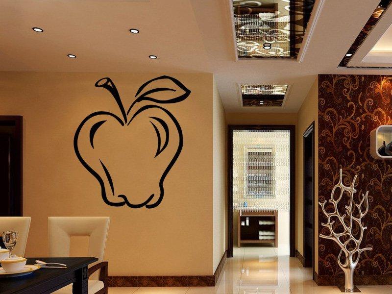 Samolepky na zeď Jablko 0132 - Samolepící dekorace a nálepka na stěnu