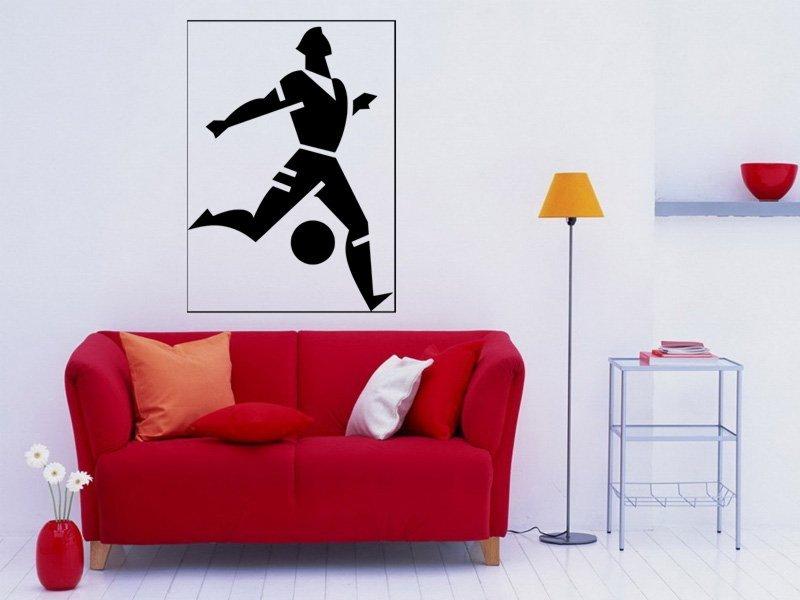 Samolepky na zeď Fotbalista 010 - Samolepící dekorace a nálepka na stěnu