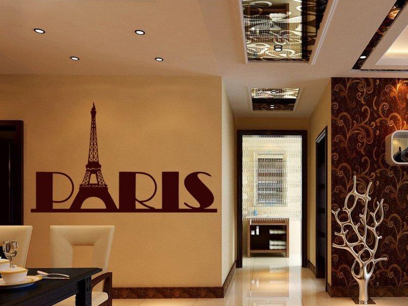 Samolepky na zeď Paříž 008 - Samolepící dekorace a nálepka na stěnu