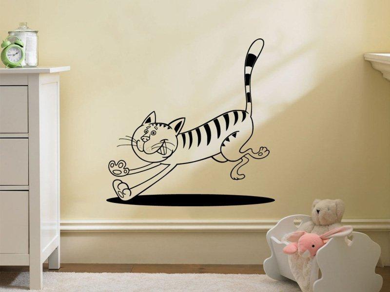 Samolepky na zeď Kočička 0515 - Samolepící dekorace a nálepka na stěnu