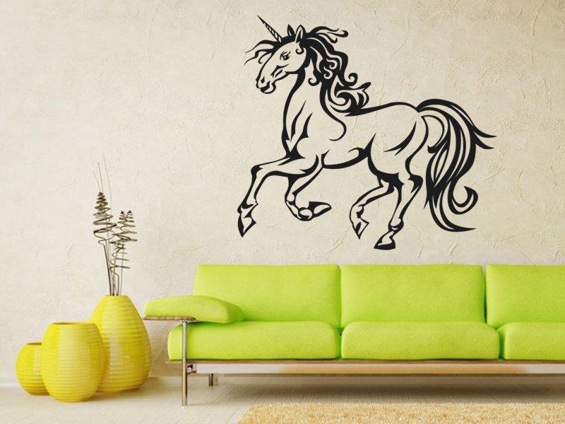 Samolepky na zeď Jednorožec 0674 - Samolepící dekorace a nálepka na stěnu
