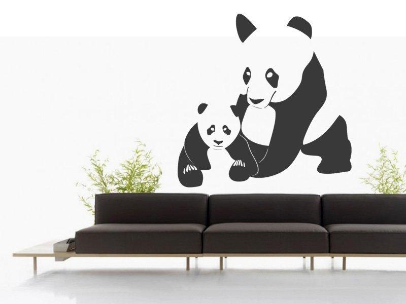 Samolepky na zeď Panda 001 - Samolepící dekorace a nálepka na stěnu