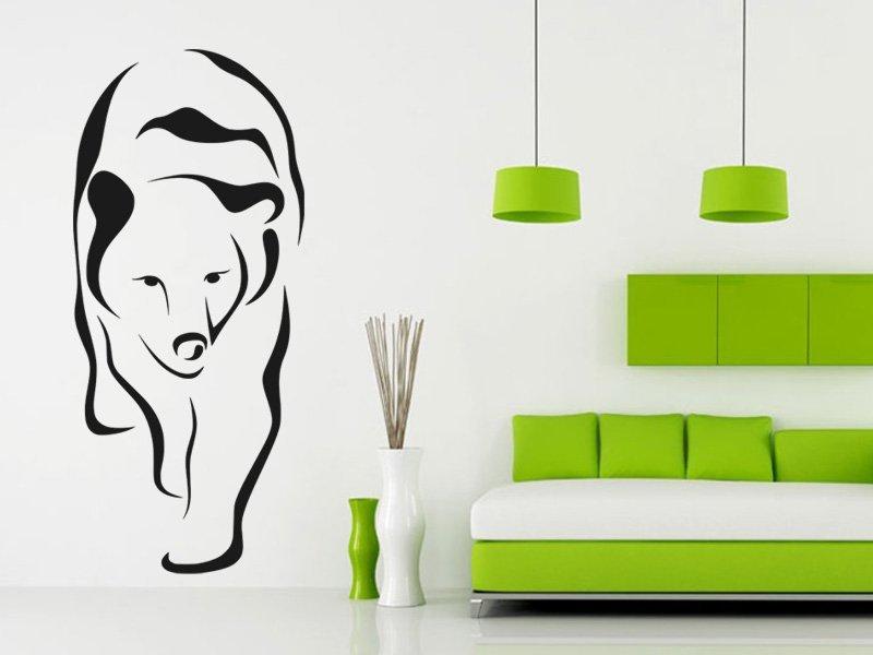 Samolepky na zeď Medvěd 003 - Samolepící dekorace a nálepka na stěnu