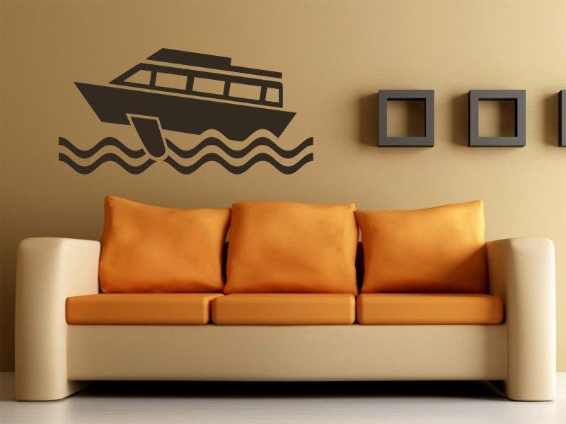 Samolepky na zeď Loď 006 - Samolepící dekorace a nálepka na stěnu