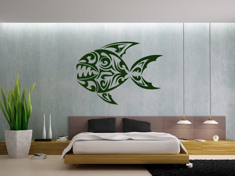 Samolepky na zeď Ryba 004 - Samolepící dekorace a nálepka na stěnu