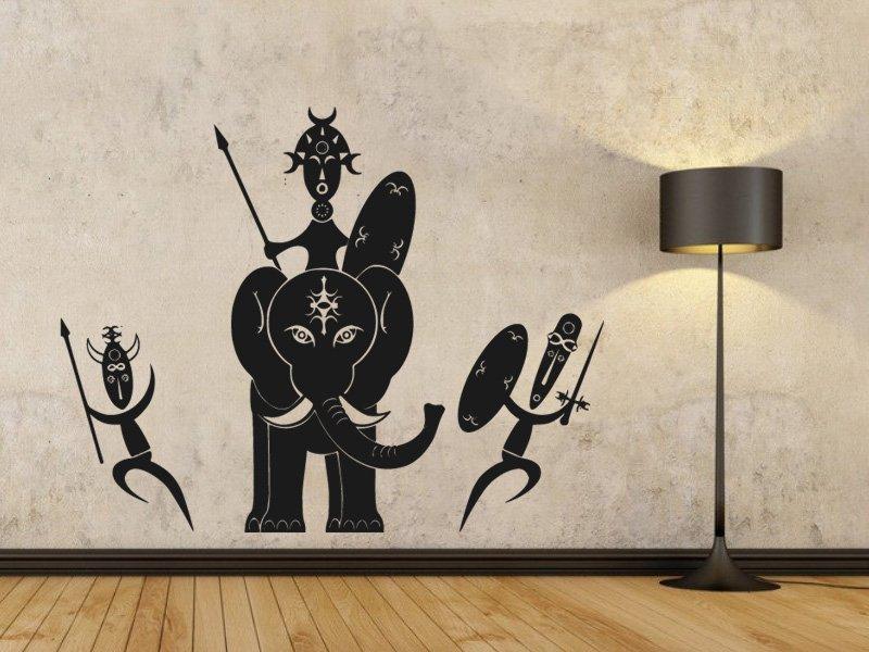 Samolepky na zeď Afričani 006 - Samolepící dekorace a nálepka na stěnu