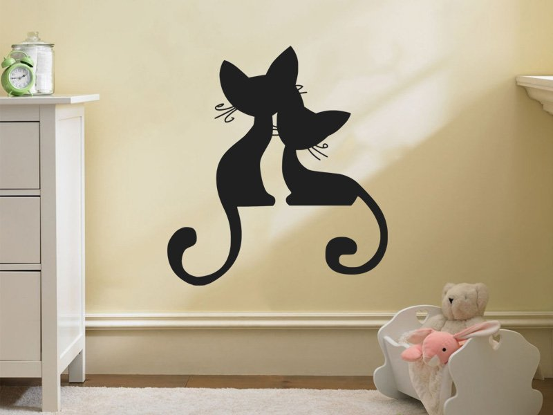 Samolepky na zeď Kočička 002 - Samolepící dekorace a nálepka na stěnu