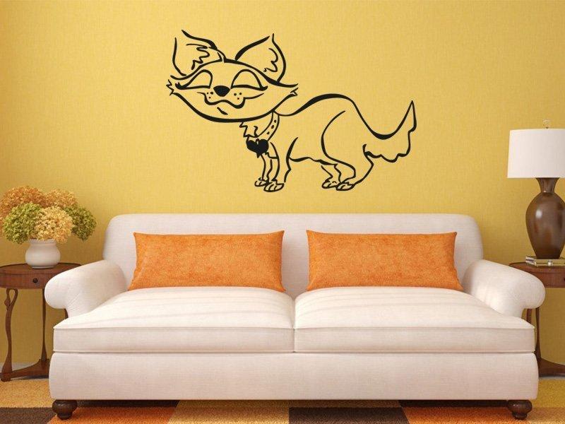 Samolepky na zeď Kočička 006 - Samolepící dekorace a nálepka na stěnu