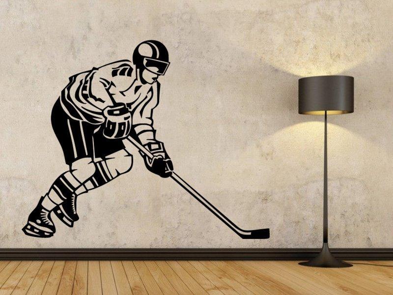 Samolepky na zeď Hokejista 002 - Samolepící dekorace a nálepka na stěnu