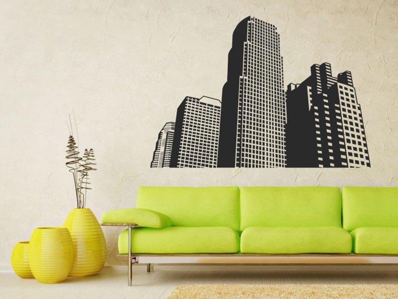 Samolepky na zeď Město 001 - Samolepící dekorace a nálepka na stěnu