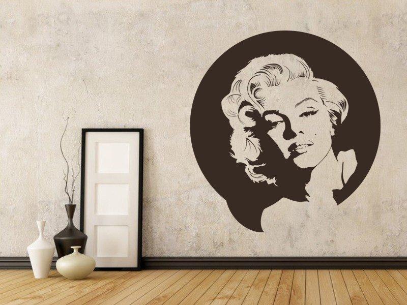 Samolepky na zeď Marylin Monroe 001 - Samolepící dekorace a nálepka na stěnu
