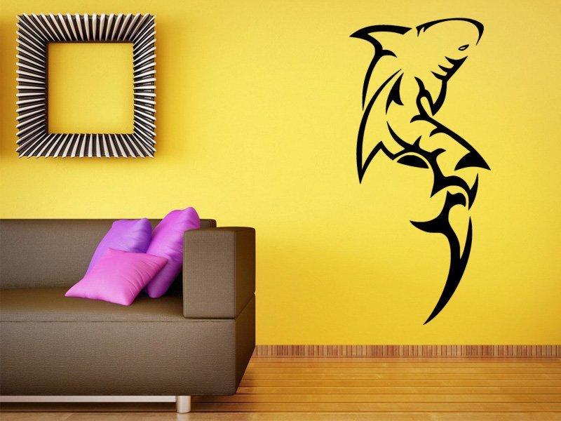 Samolepky na zeď Žralok 009 - Samolepící dekorace a nálepka na stěnu