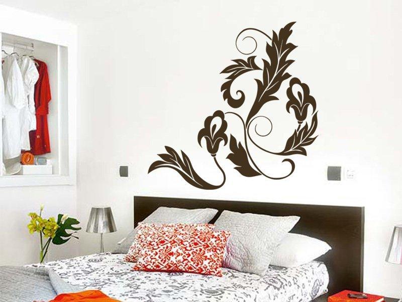 Samolepky na zeď Ornamenty z rostlin 023 - Samolepící dekorace a nálepka na stěnu