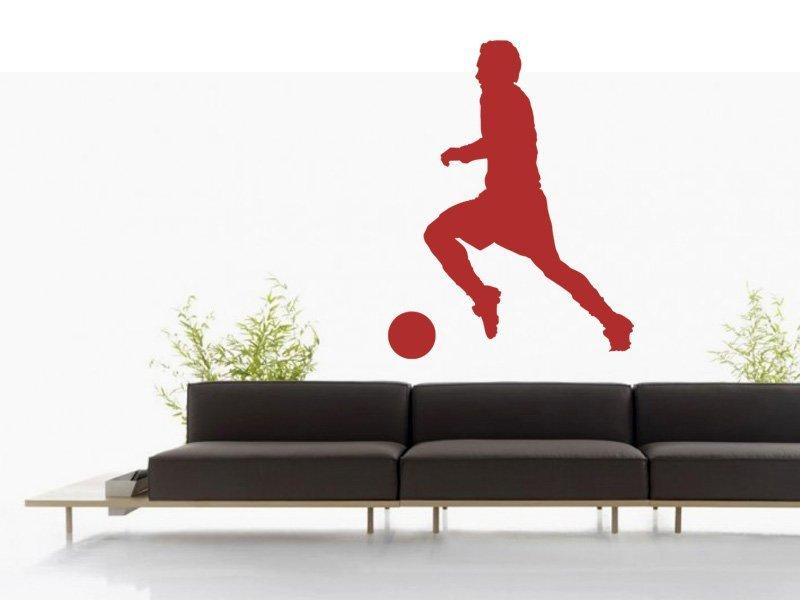 Samolepky na zeď Fotbalista 011 - Samolepící dekorace a nálepka na stěnu