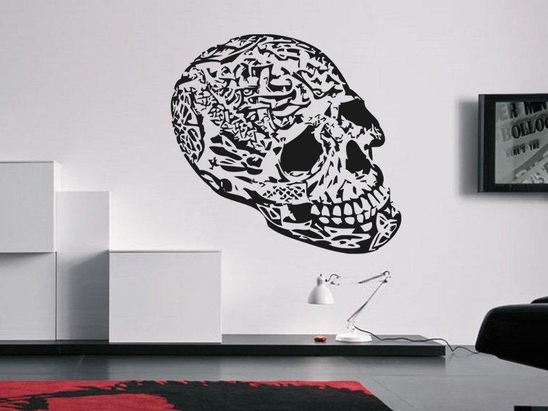 Samolepky na zeď Lebky 002 - Samolepící dekorace a nálepka na stěnu