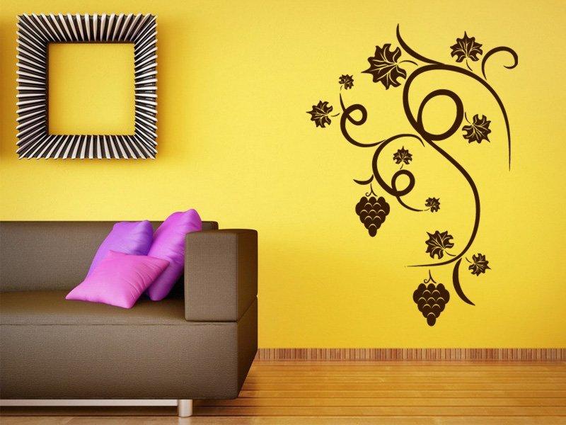 Samolepky na zeď Hroznové víno 001 - Samolepící dekorace a nálepka na stěnu