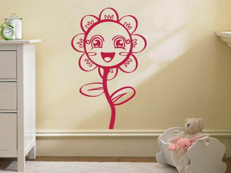 Samolepky na zeď Květiny 011 - Samolepící dekorace a nálepka na stěnu