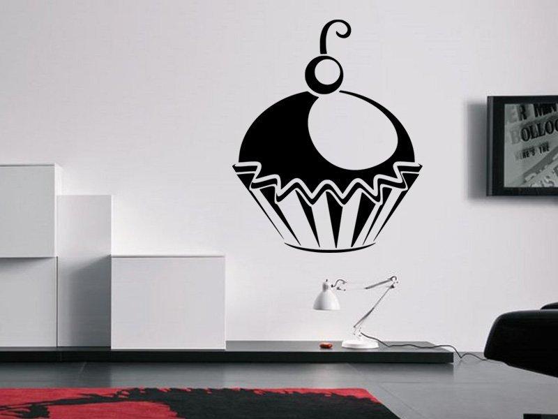 Samolepky na zeď Cupcake 0005 - Samolepící dekorace a nálepka na stěnu