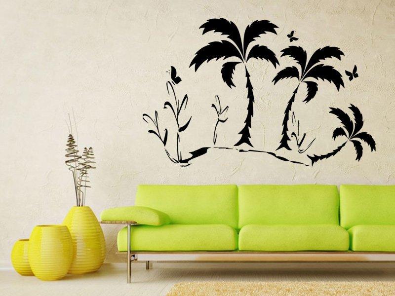 Samolepky na zeď Palmy 0305 - Samolepící dekorace a nálepka na stěnu