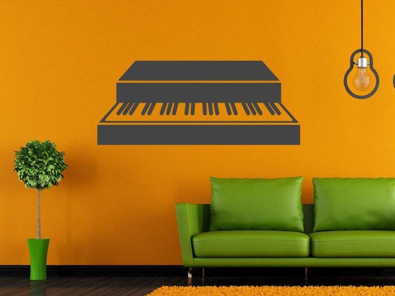 Samolepky na zeď Piano 006 - Samolepící dekorace a nálepka na stěnu