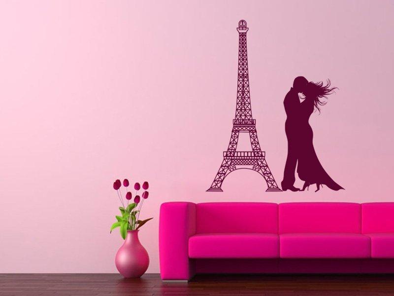 Samolepky na zeď Eifelova věž 007 - Samolepící dekorace a nálepka na stěnu