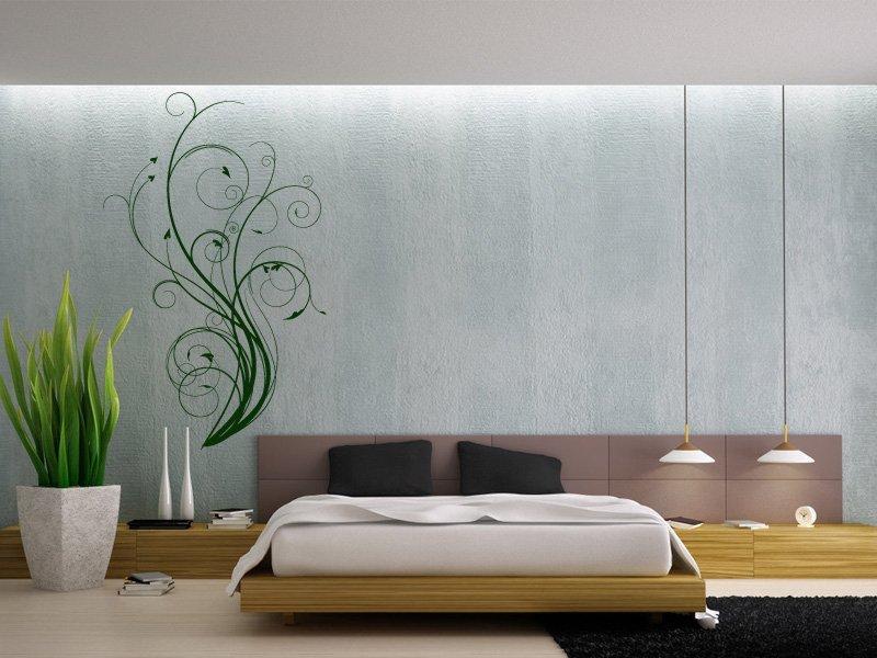 Samolepky na zeď Výhonky 007 - Samolepící dekorace a nálepka na stěnu