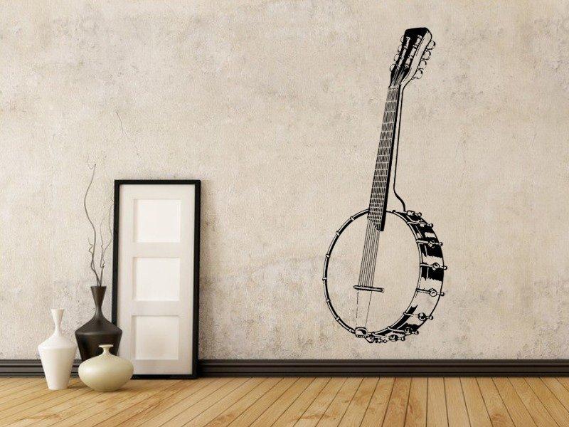 Samolepky na zeď Kytara 003 - Samolepící dekorace a nálepka na stěnu