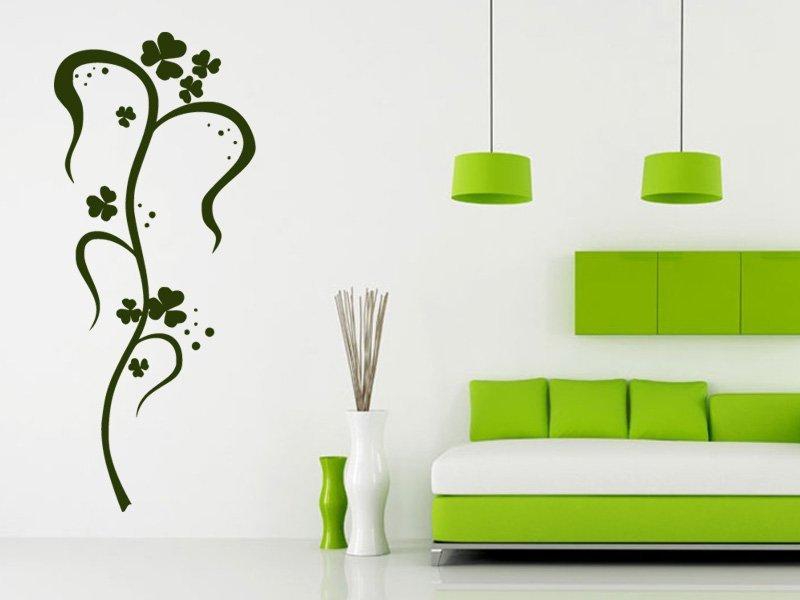 Samolepky na zeď Ornamenty z rostlin 035 - Samolepící dekorace a nálepka na stěnu