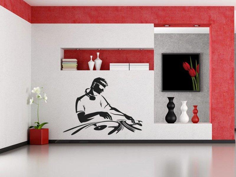 Samolepky na zeď DJ 002 - Samolepící dekorace a nálepka na stěnu