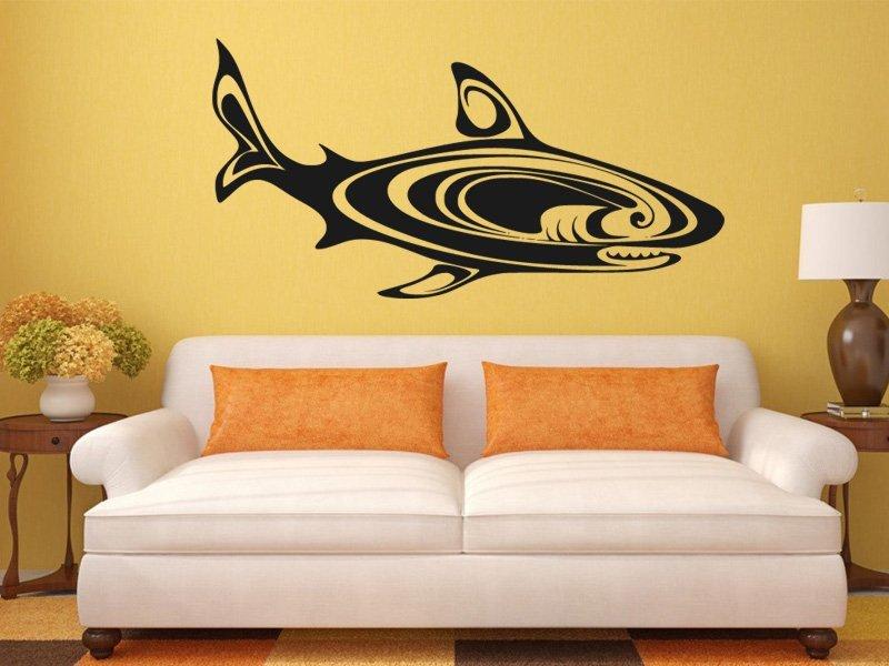 Samolepky na zeď Žralok 007 - Samolepící dekorace a nálepka na stěnu