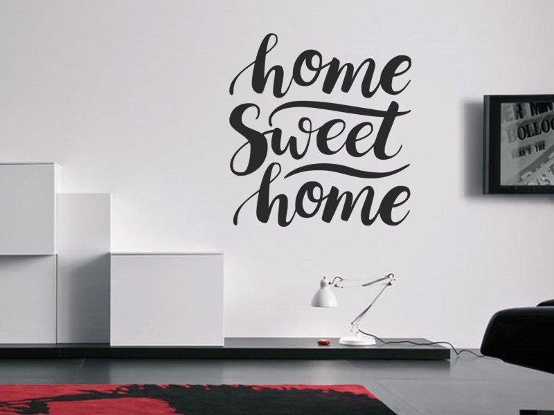 Samolepky na zeď Nápis Home Sweet Home 0626
