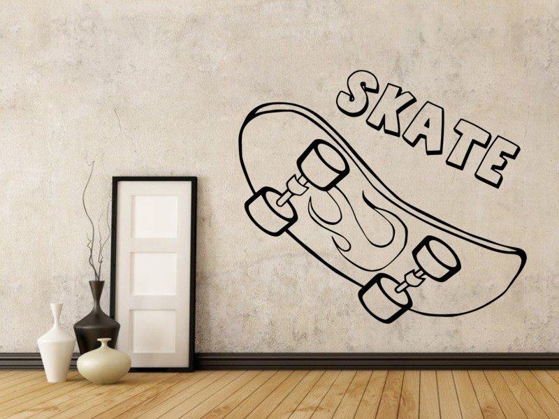 Samolepky na zeď Skateboard 0962 - Samolepící dekorace a nálepka na stěnu