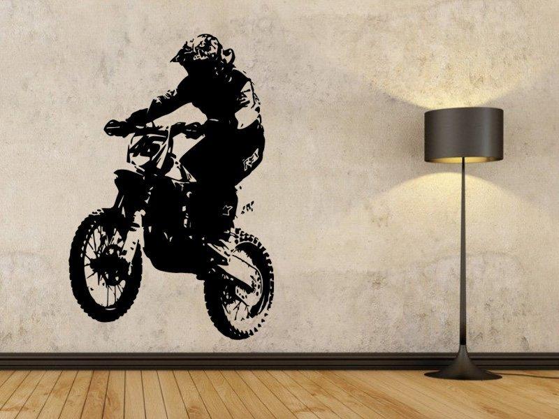 Samolepky na zeď Motorka 004 - Samolepící dekorace a nálepka na stěnu