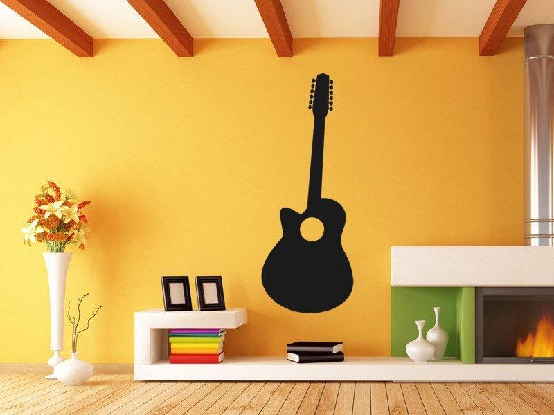 Samolepky na zeď Kytara 010 - Samolepící dekorace a nálepka na stěnu