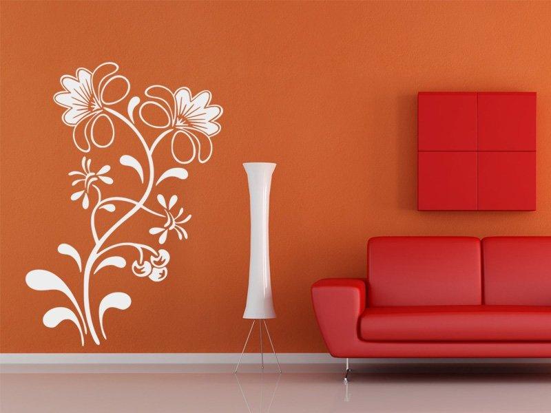 Samolepky na zeď Květiny 025