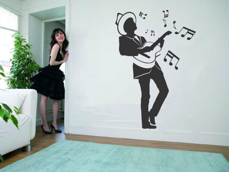 Samolepky na zeď Kytarista 002