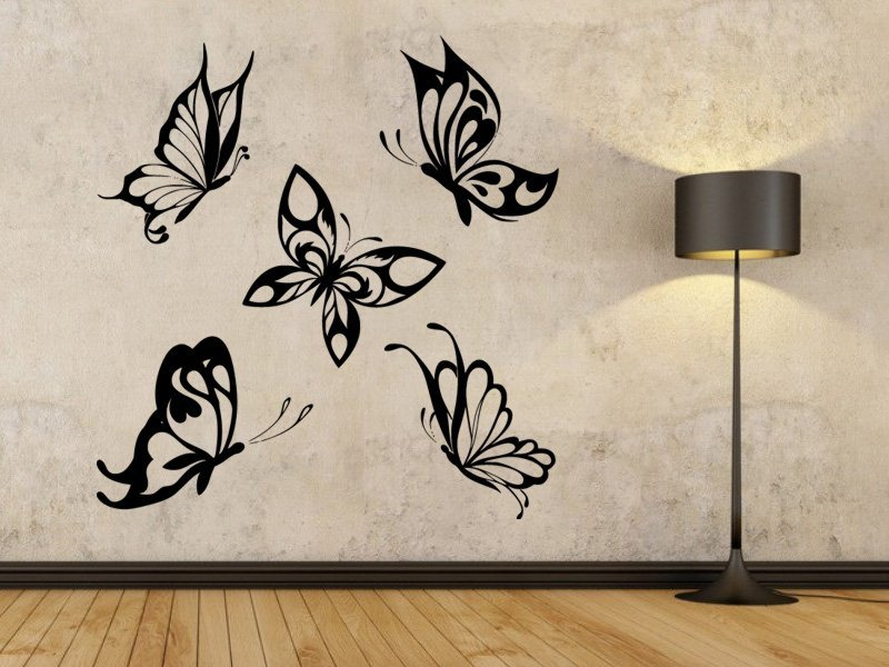 Samolepky na zeď Sada motýlů 002 - Samolepící dekorace a nálepka na stěnu