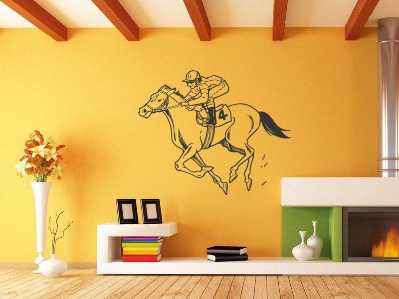 Samolepky na zeď Žokej 006 - Samolepící dekorace a nálepka na stěnu