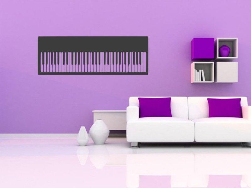 Samolepky na zeď Piano 005 - Samolepící dekorace a nálepka na stěnu