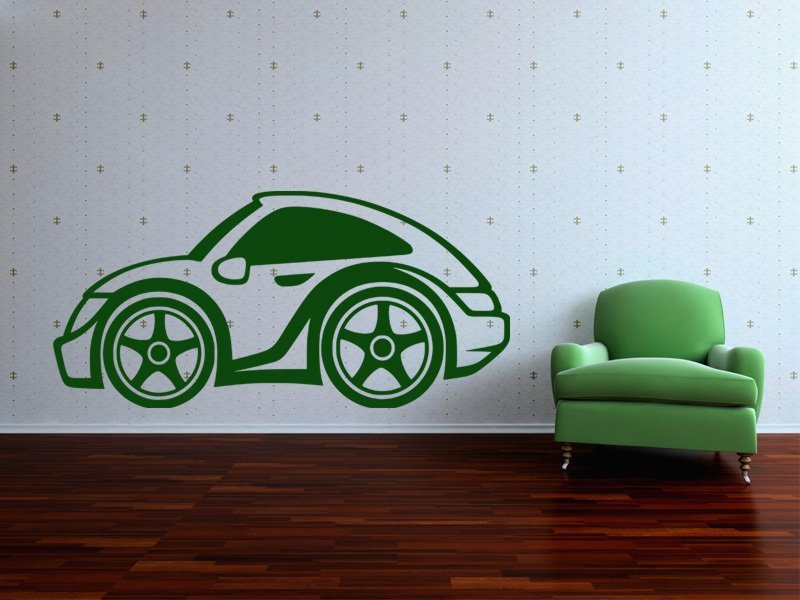 Samolepky na zeď Auto 051 - Samolepící dekorace a nálepka na stěnu