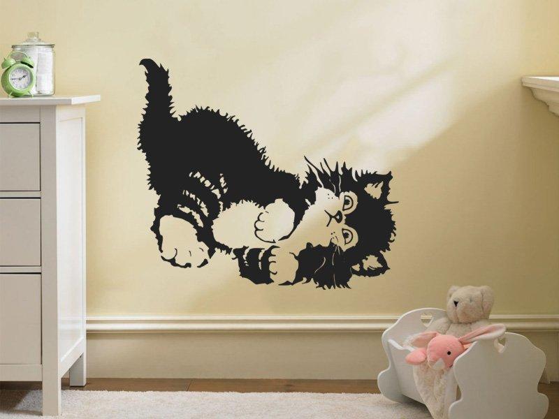 Samolepky na zeď Koťátko 001 - Samolepící dekorace a nálepka na stěnu
