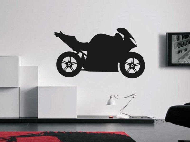 Samolepky na zeď Motorka 017 - Samolepící dekorace a nálepka na stěnu