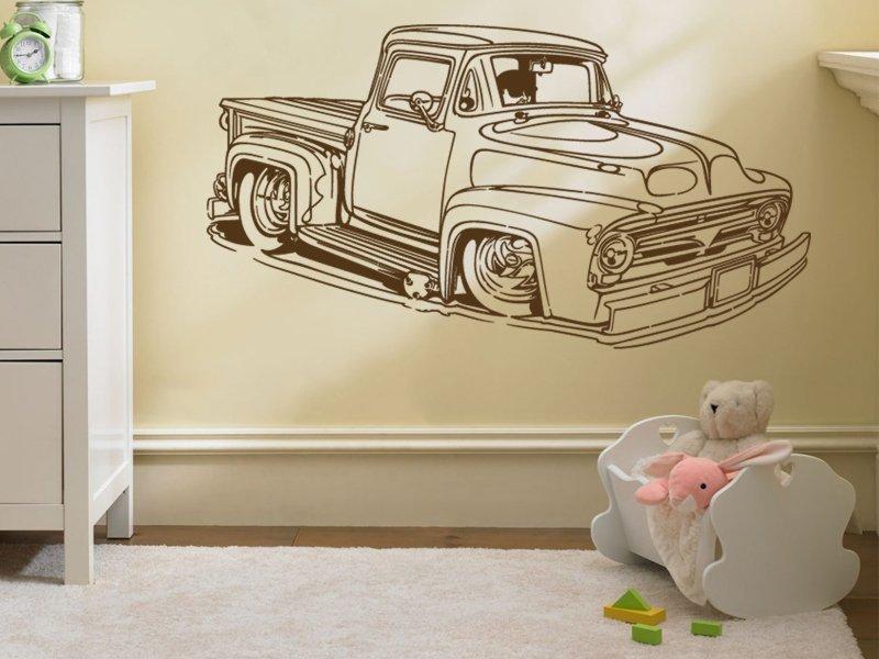 Samolepky na zeď Auto 003 - Samolepící dekorace a nálepka na stěnu